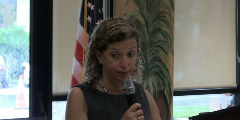 """Wasserman Schultz accuses Trump of """"stealing"""" money from military"""