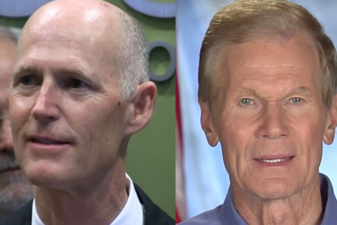 Election Day push for Nelson and Scott