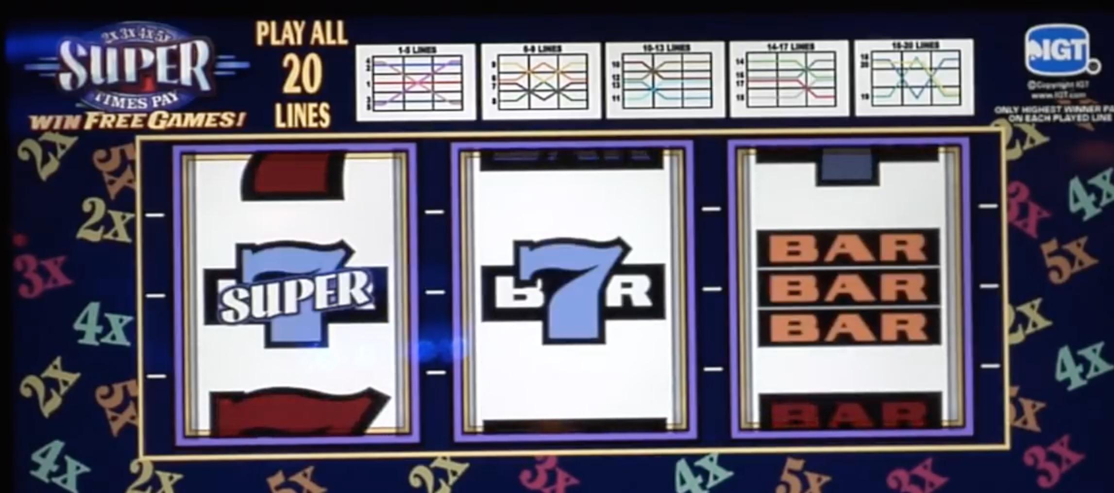 Slot machines put on table in gambling talks