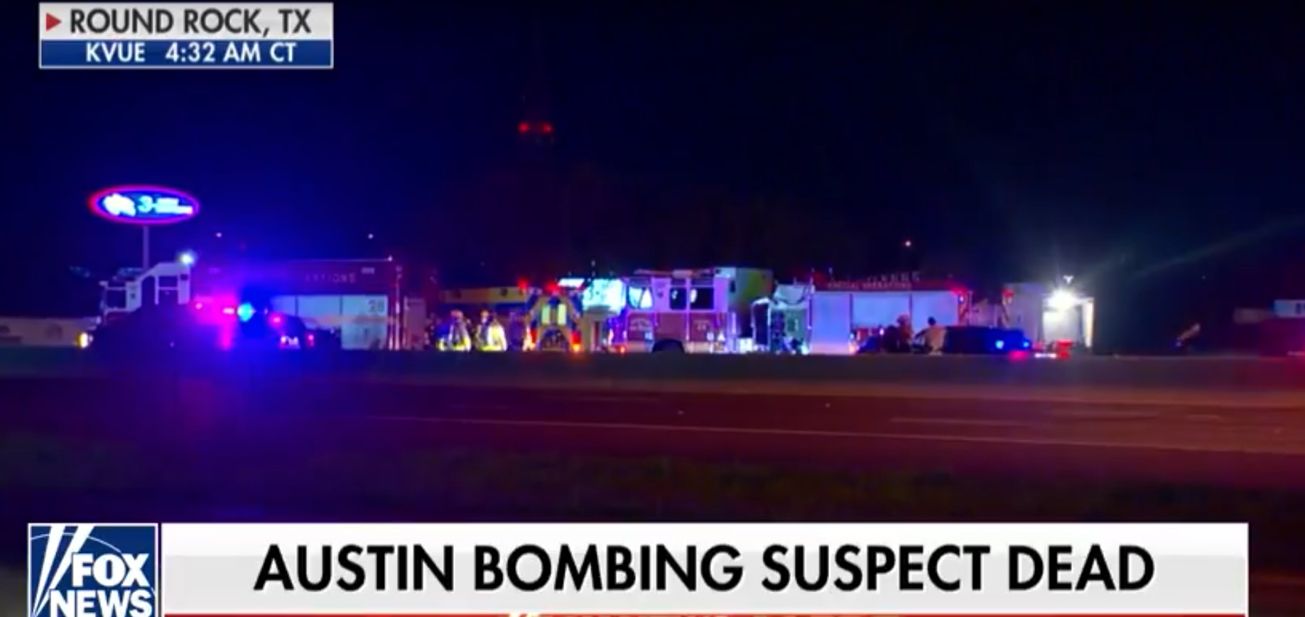 Austin serial bomber dead after police chase