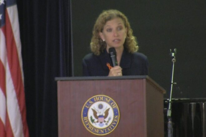 Wasserman Schultz continues blaming Trump for shootings.