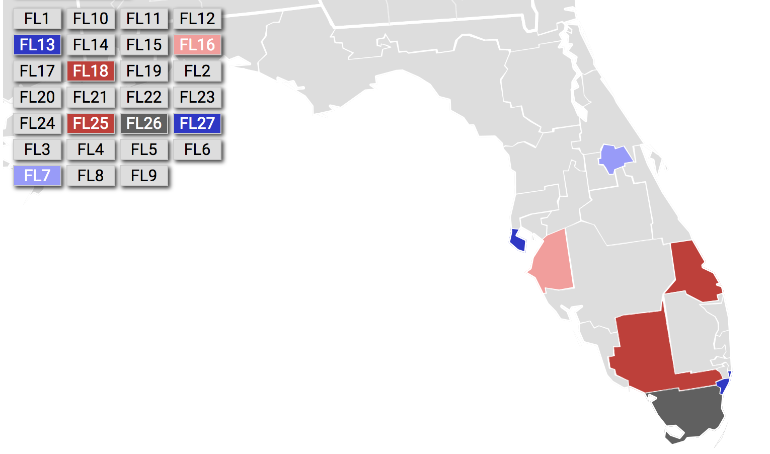 Florida's congressional make up on the verge of change