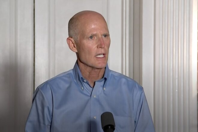 "Rick Scott says ""left wing activists"" trying to ""steal"" election"