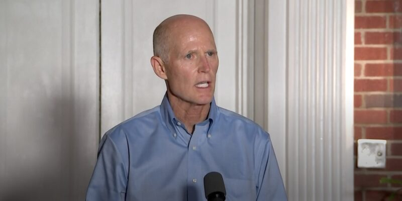 """Rick Scott says """"left wing activists"""" trying to """"steal"""" election"""