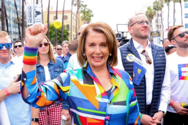 Pelosi highlights her Stimulus Act on Jeopardy