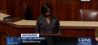 Demings delivers passionate gun control address to congress