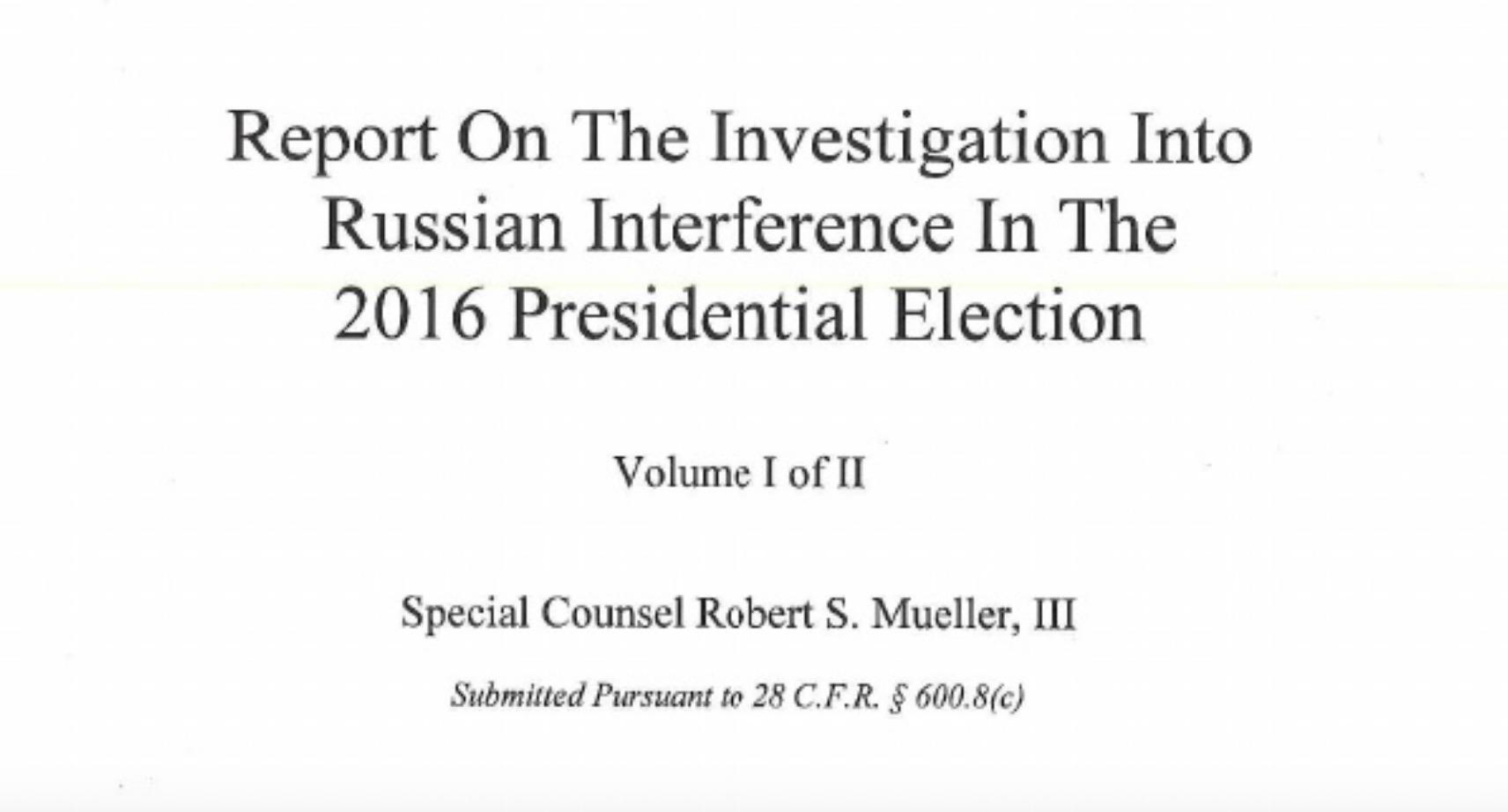 READ IT HERE -Mueller Report release