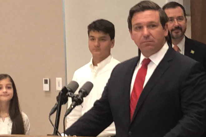 Charter School fight gets ugly, DeSantis' education bona fides questioned