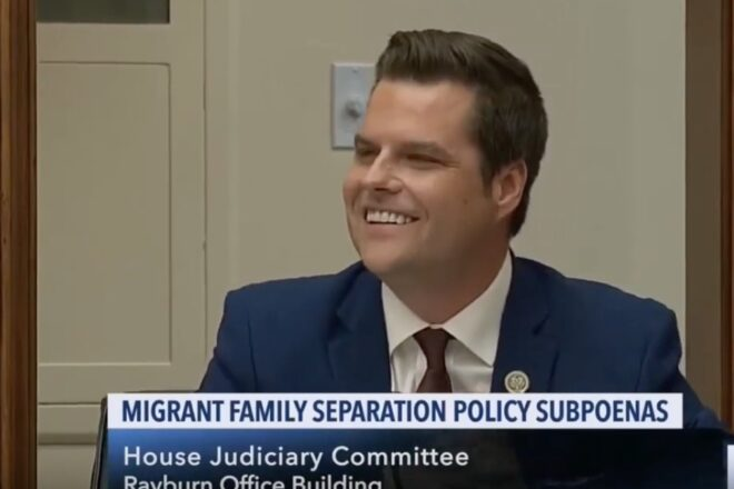 Matt Gaetz making friends, one angry progressive at a time