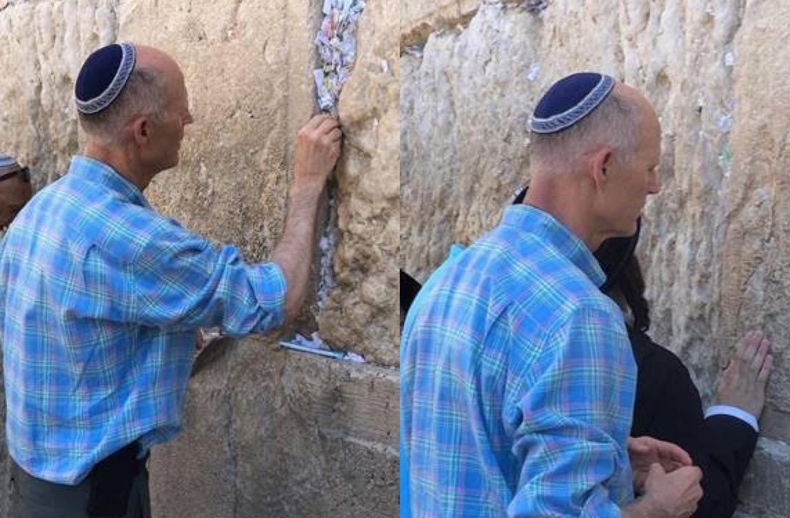 Rick Scott prays for Maduro's downfall in Israel