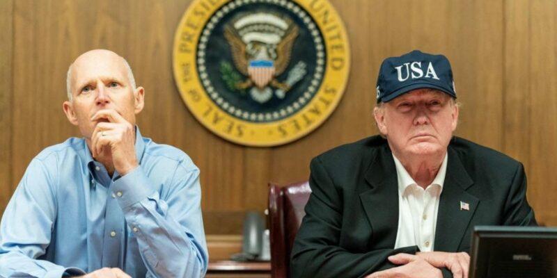 Scott and Trump monitor Hurricane Dorian from FEMA HQ