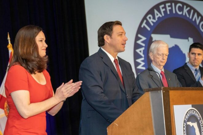 DeSantis vows to throw the book at human traffickers