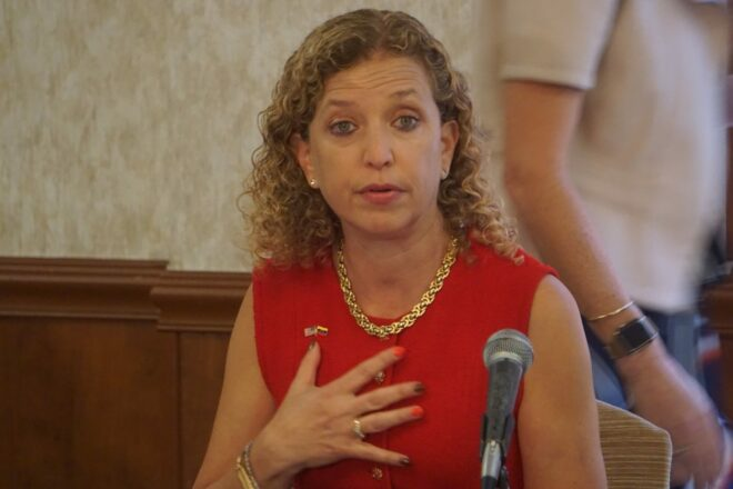 "Wasserman Schultz accuses Trump official of pushing ""heinous white supremacy ideology"""