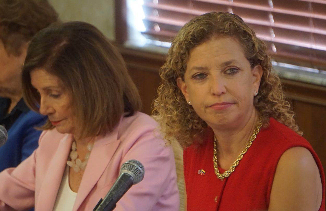 Wasserman Schultz continues to dish it out, literally