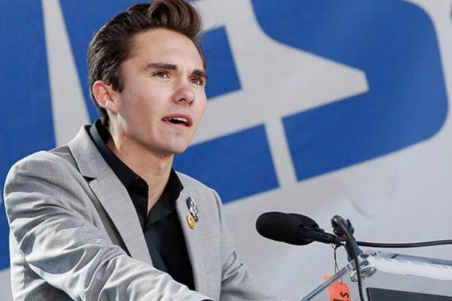 David Hogg states gun owners only support white supremacy