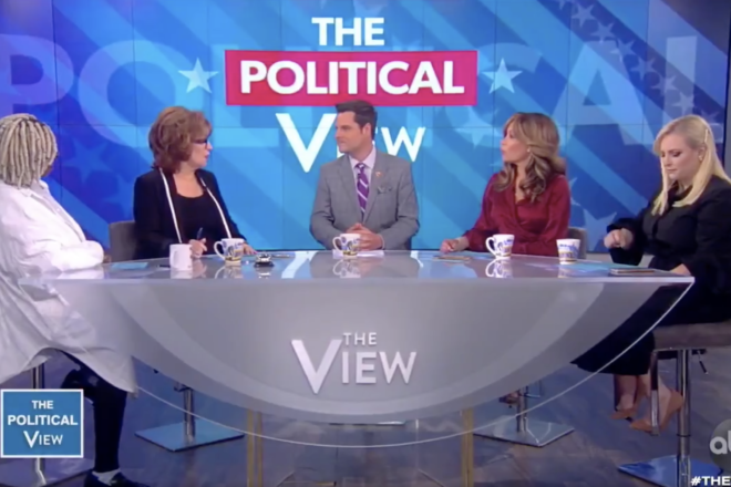 Matt Gaetz Turns the Table on The View's Joe Behar
