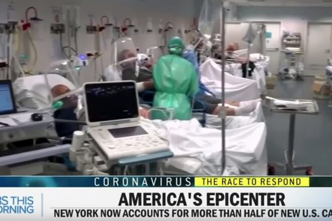 CBS uses Italian hospital footage to describe COVID-19 in America,  AGAIN!