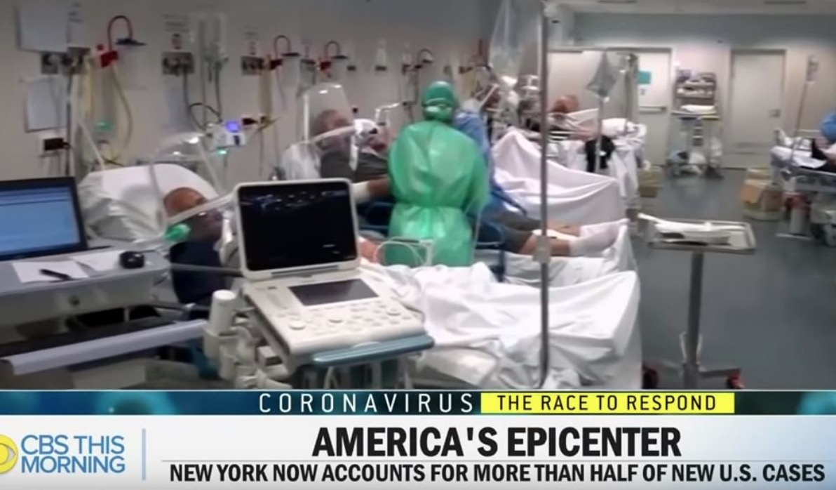 CBS uses Italian hospital footage to describe COVID-19 condition in New York