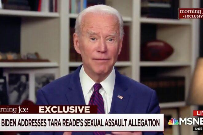 "Joe Biden ""unequivocally"" denies sexual assault allegation"