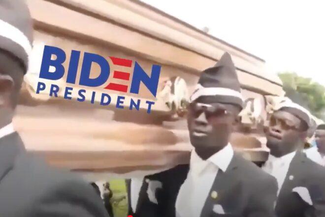 Trump Shares Biden Campaign Funeral Video