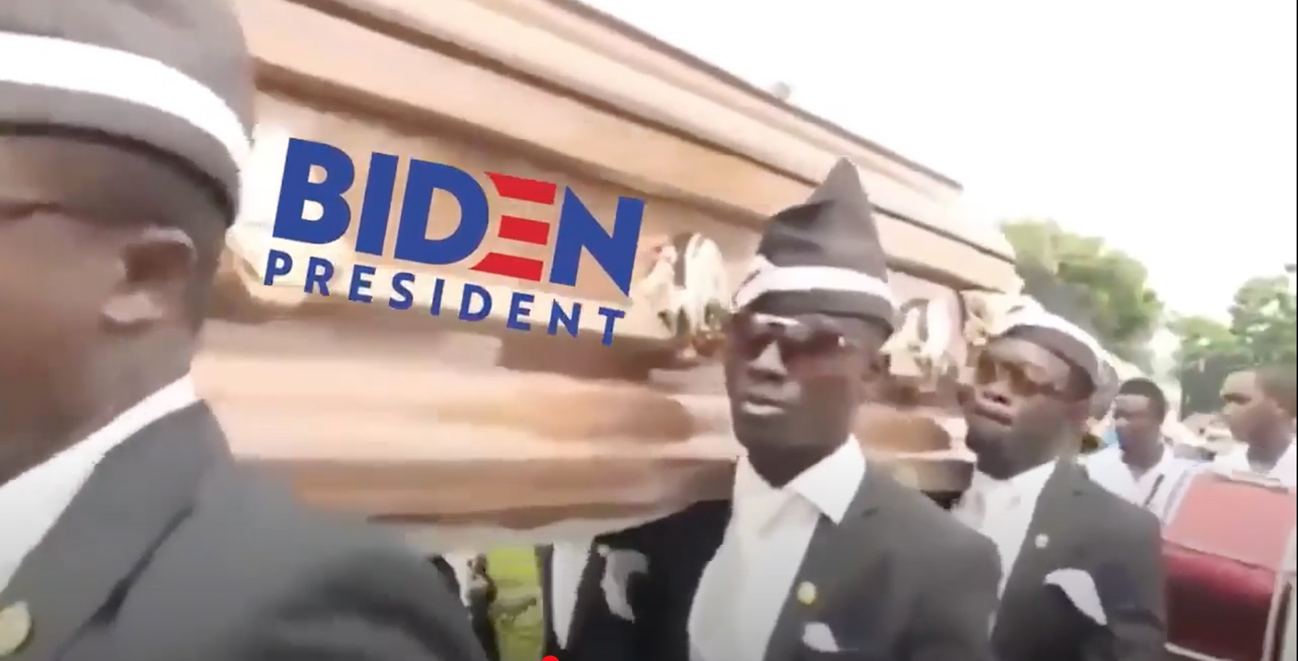 Trump Shares Biden Campaign Funeral Video