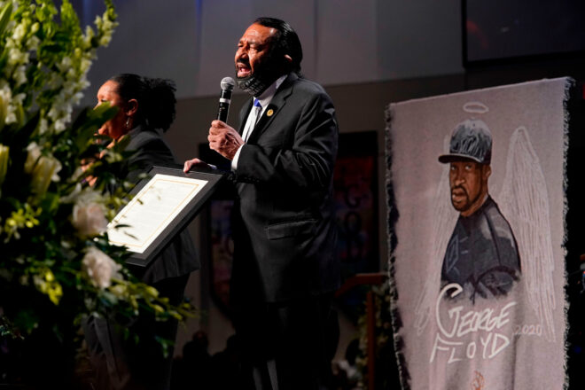 Green at George Floyd Funeral Calls For a 'Department of Reconciliation'