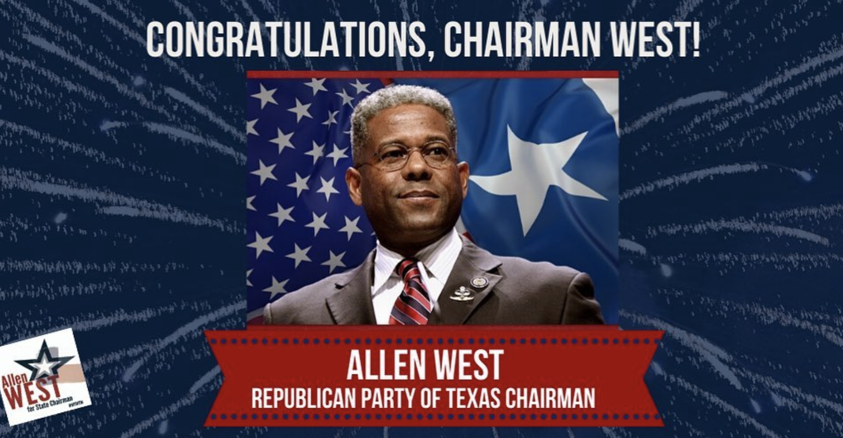 Allen West wins Texas GOP Chairmanship