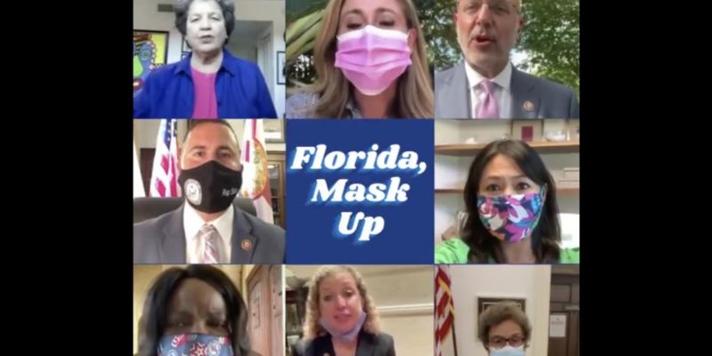 FL Congressional Democrats Plea for a Mask Mandate