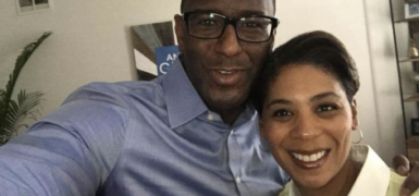Andrew Gillum and Pam Keith
