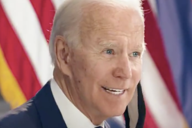 Biden doesn't support the Green New Deal, but his website says he does
