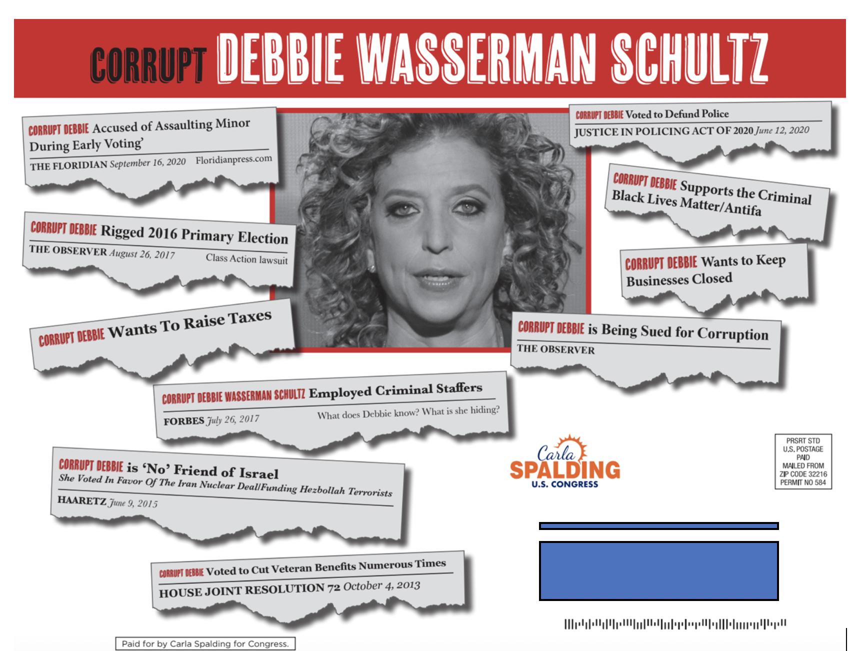 Spalding slams Wasserman Schultz with 'Corrupt Debbie' campaign