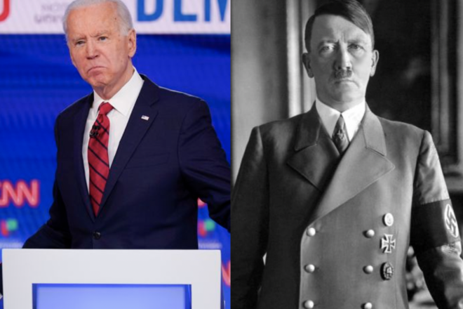 Biden references Hitler during debate with Trump
