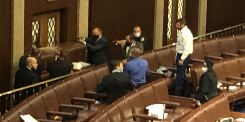 Videos: Moments the Capitol was breached, shots fired, members evacuated