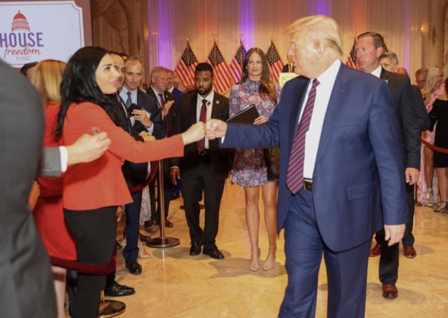 President Trump and Laura Loomer at Mar-A.Lago