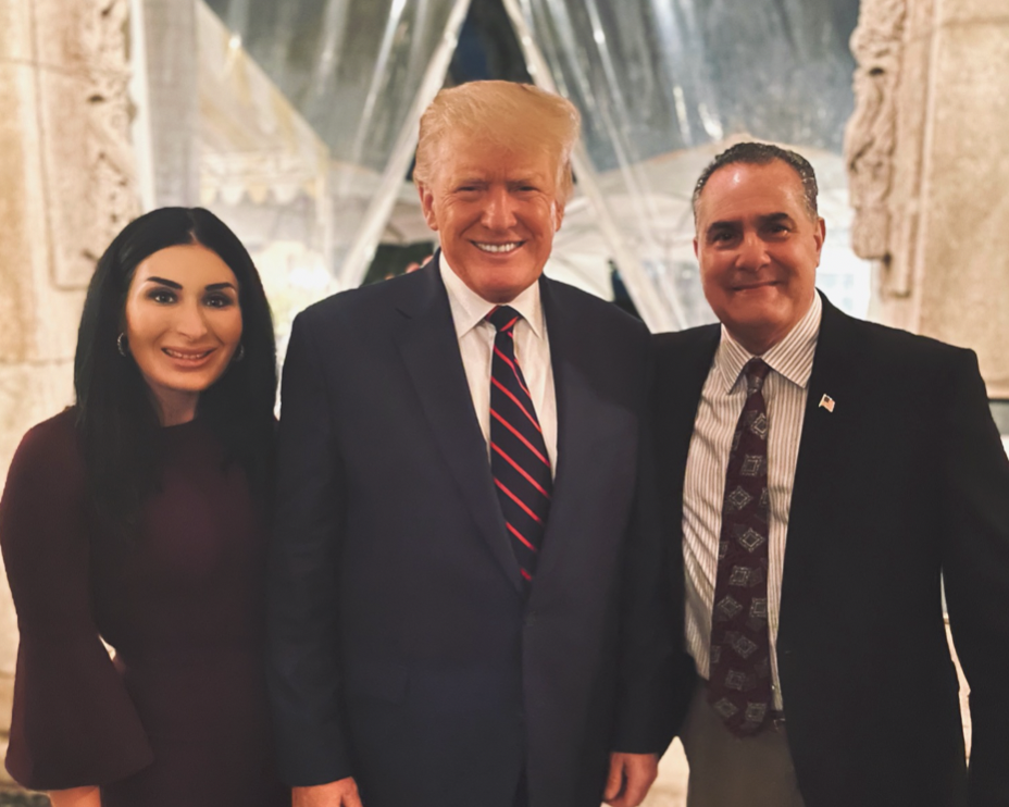 President Donald Trump, Laura Loomer and Willy Guardiola at Mar-A-Lago