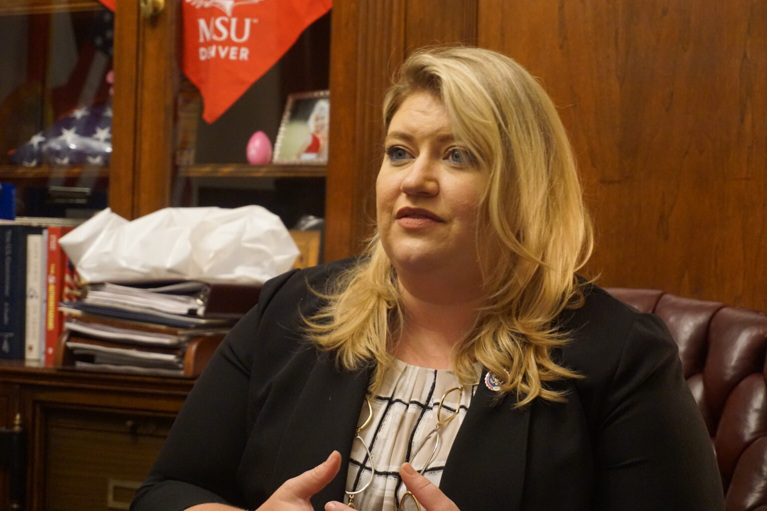 Rep. Kat Cammack during an interview with The Floridian
