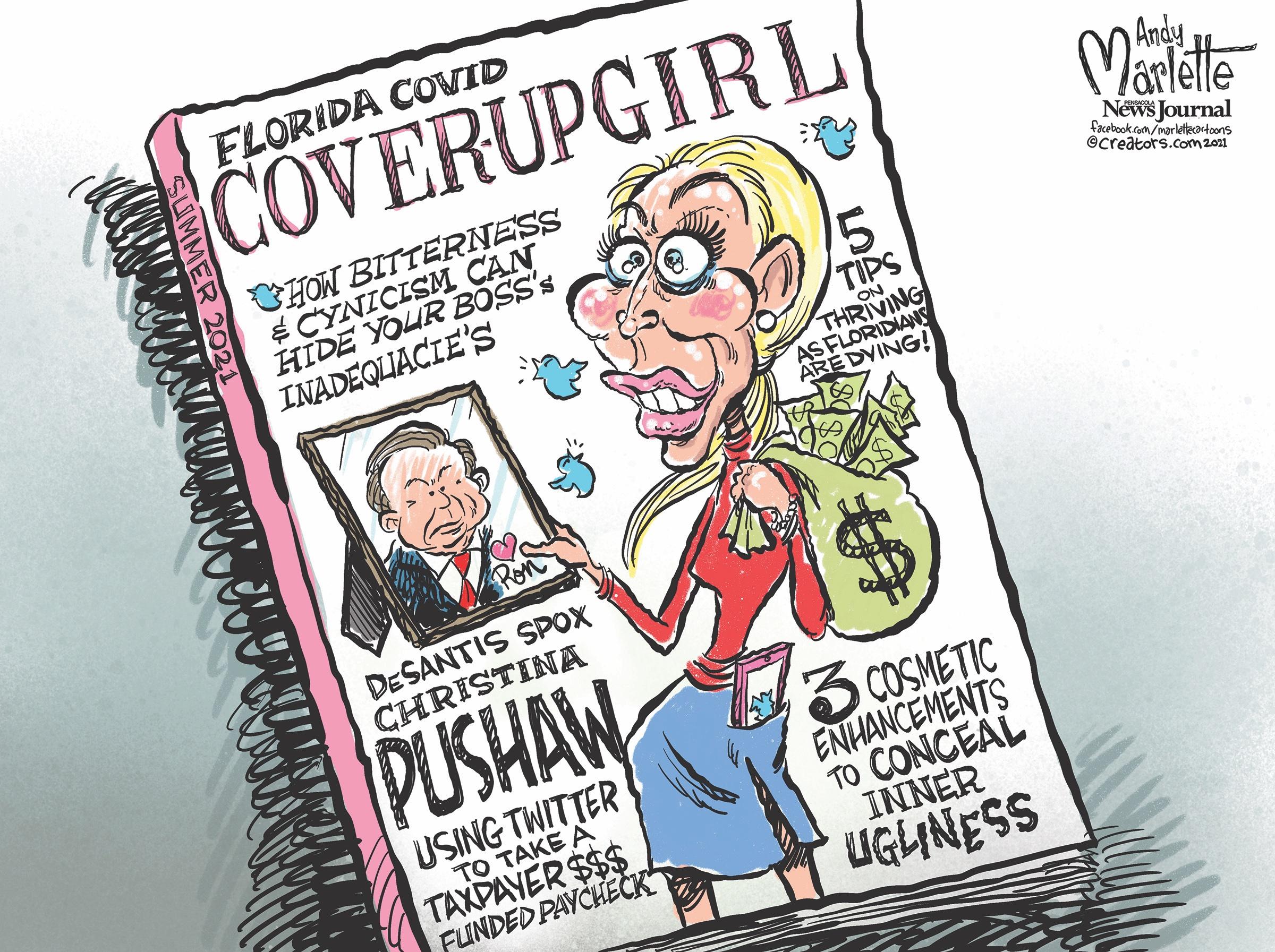 Media Outlet Promotes Sexist Cartoon of DeSantis Spokeswoman Christina Pushaw