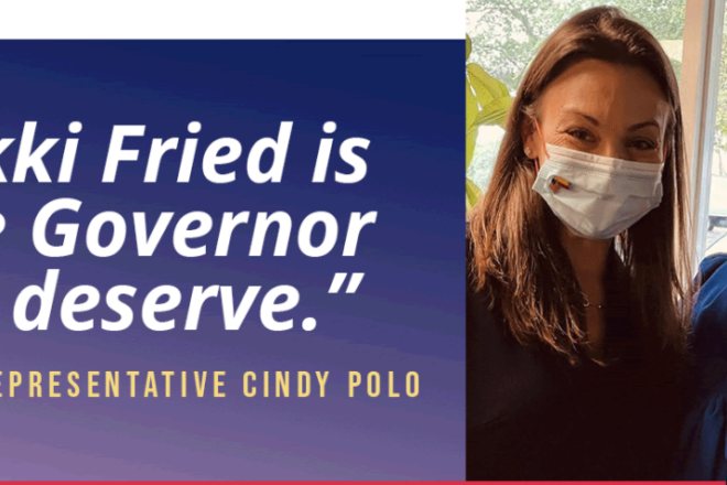 Accused Bigot Cindy Polo Endorses Nikki Fried